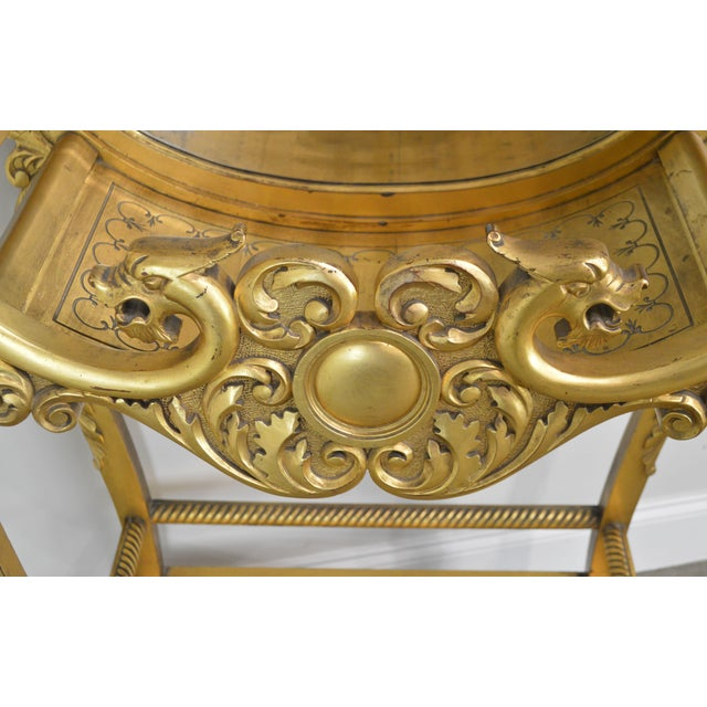 Victorian Era French Louis XV Style Gilt Mirror Back Etagere For Sale - Image 10 of 13