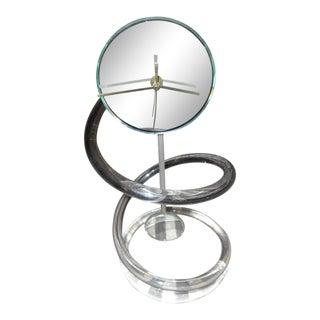 1970s Mid-Century Modern Acrylic Lucite Pendulum Clock For Sale