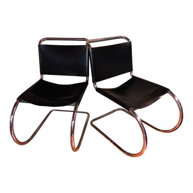 Vintage Pair of Mr 10 Chairs by Ludwig Mies Van Der Rohe For Sale