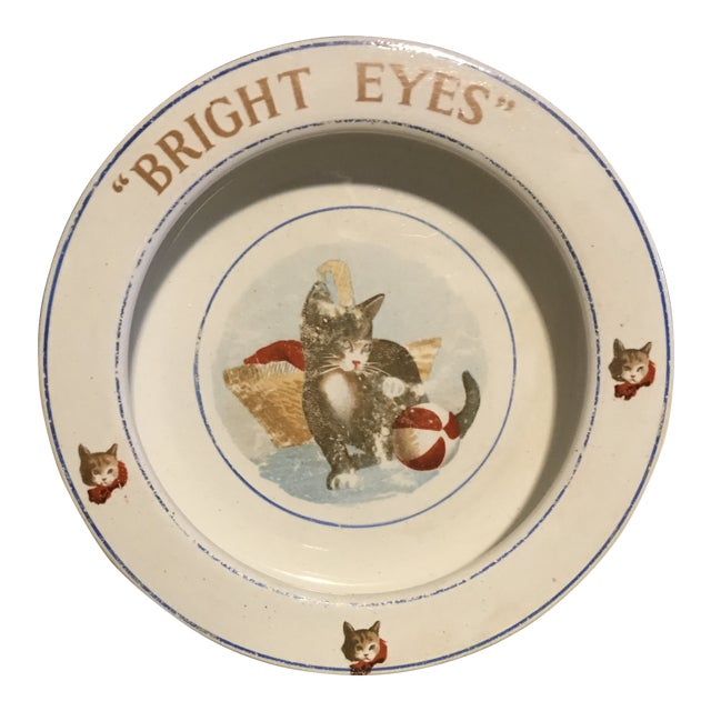 "Antique Children's ""Bright Eyes"" Dish For Sale"
