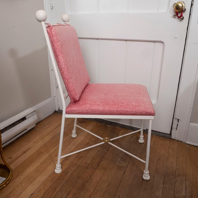 Painted Metal Dining Chairs - Set of 6 For Sale - Image 9 of 12