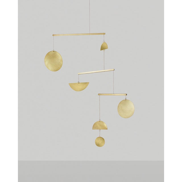 Brass Three-Tiered Geometric Mobile - Image 2 of 3