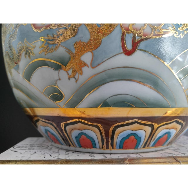 Ceramic Asian Modern Ceramic Good Fortune Vase For Sale - Image 7 of 9
