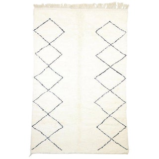 Contemporary Berber Moroccan Minimalist Style Rug - 7′ × 10′9″ For Sale