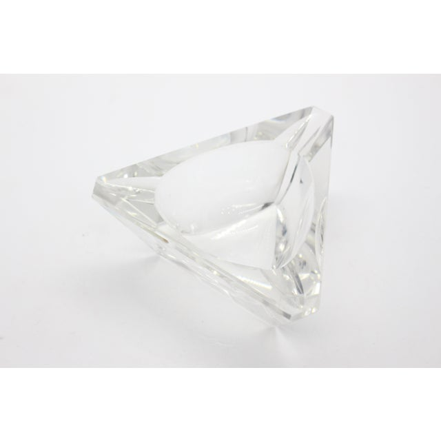 Geometric Lead Crystal Ashtrays - A Pair For Sale - Image 4 of 11