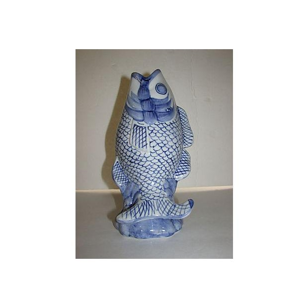 Mid century koi fish vase chairish for Koi for sale houston
