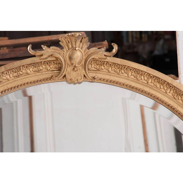 French 19th Century Oval Gold Gilt Mirror For Sale - Image 10 of 10