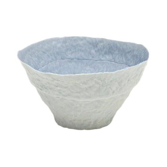 Handbuilt Blue and White Center Bowl For Sale
