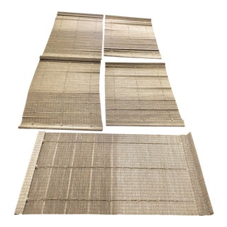 Organic Modern Woven Wood Window Shades - Set of 5 For Sale