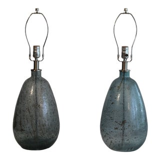 Art Glass Lamps - a Pair For Sale
