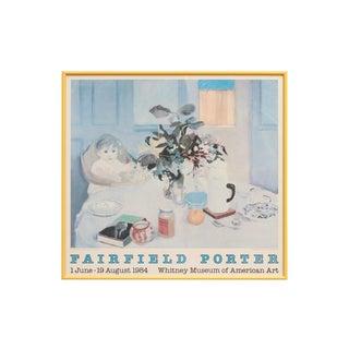 1984 Fairfield Porter Art Framed Exhibition Poster