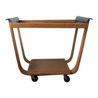 1950s Mid-Century Modern Cees Braakman for Pastoe Birch Tea Cart For Sale