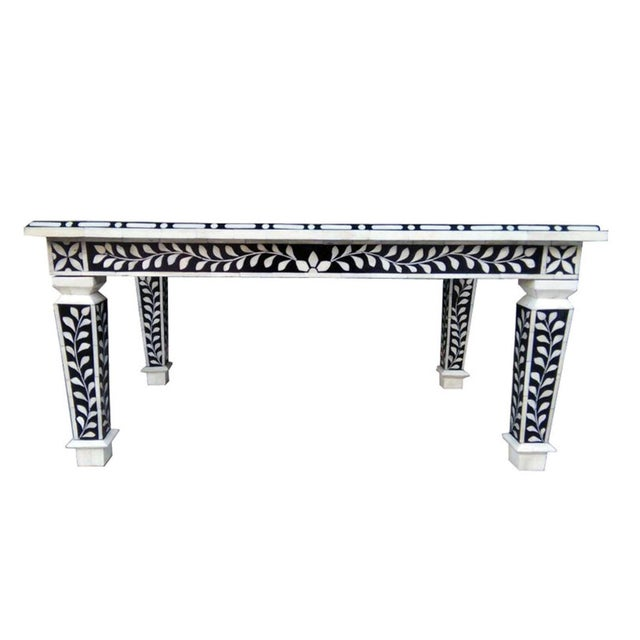 Bone Inlay Hand Crafted Coffee Table For Sale - Image 4 of 5