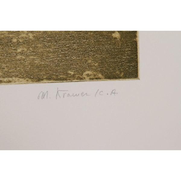 "Mireille Kramer, ""Birds,"" Flowers IV, Etching - Image 2 of 2"