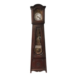 French 19th Century Oak Clock in Brittany Style