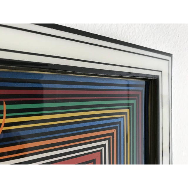 Op Art Epicenter Painting by Mauro Oliveira For Sale - Image 3 of 5