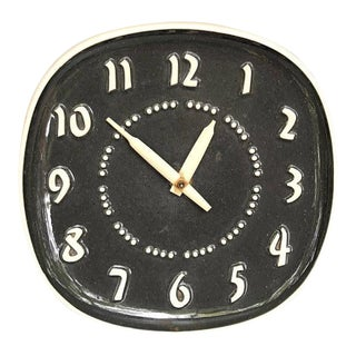 1960s Russel Wright Ceramic Ge Wall Clock For Sale