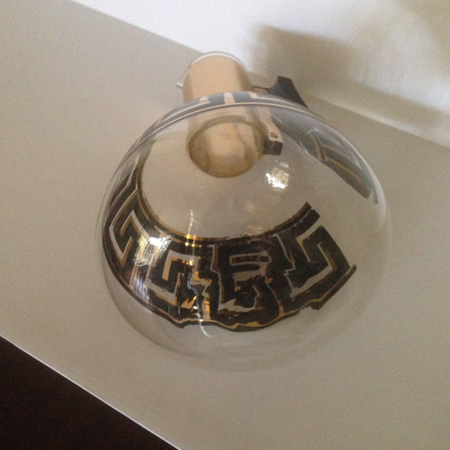 Mid-Century Greek Key Glass Coffee Carafe For Sale In Indianapolis - Image 6 of 11