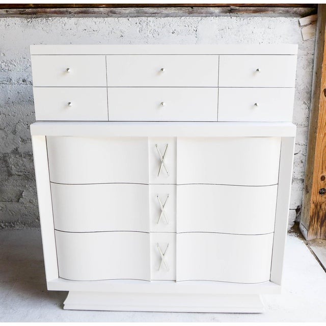 Mid-Century Freshly Painted Dresser For Sale - Image 4 of 9
