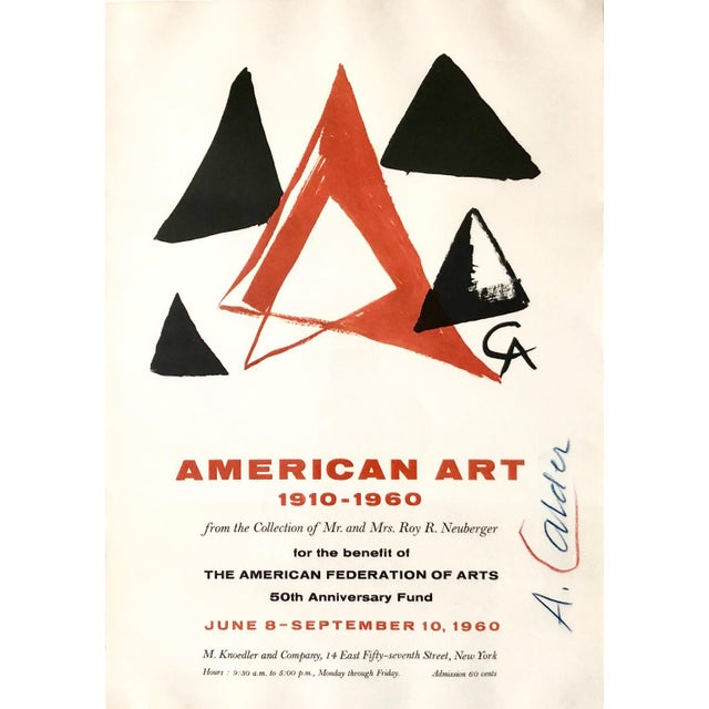 "Alexander Calder commissioned art for the Knoedler Gallery poster announcing their exhibition ""American Art 1910-1960""..."