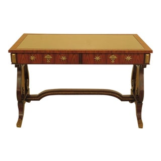 Maitland Smith Regency Chinoiserie Decorated Top Desk For Sale