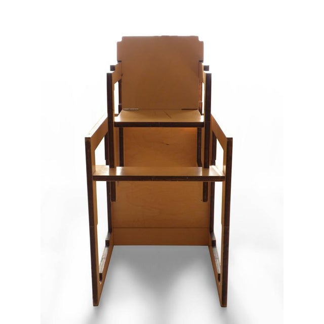 Danish Modern Kid's Convertible High-Chair & Table - Image 3 of 6