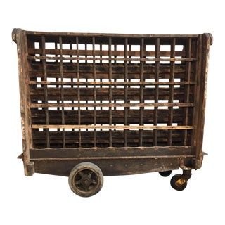 Champagne Cart From the Veuve-Cliquot Vineyard For Sale