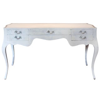 1960s French Provincial Style White Writing Desk For Sale