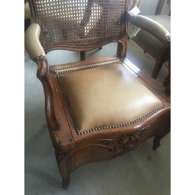 Brown 18th Century French Country Walnut Commode Potty Chair For Sale - Image 8 of 12