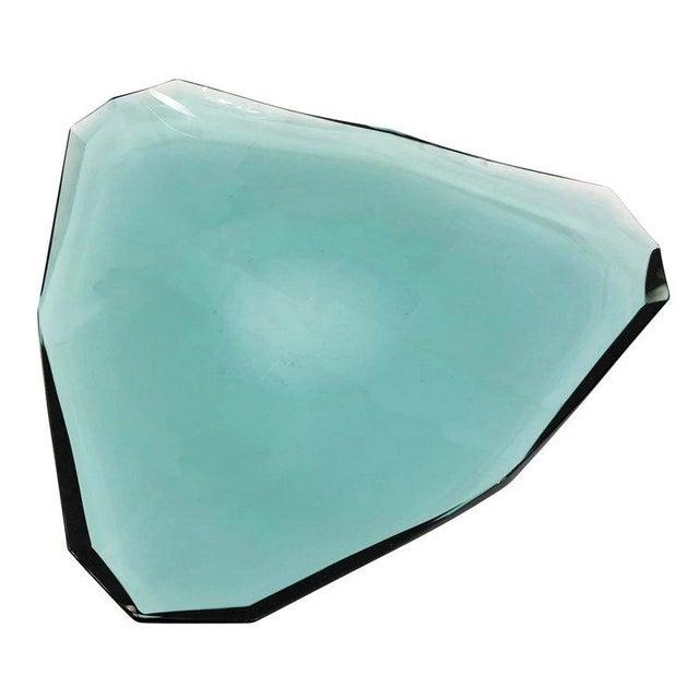 Fontana Arte 1960s Fontana Arte Glass Centerpiece, Italy For Sale - Image 4 of 6