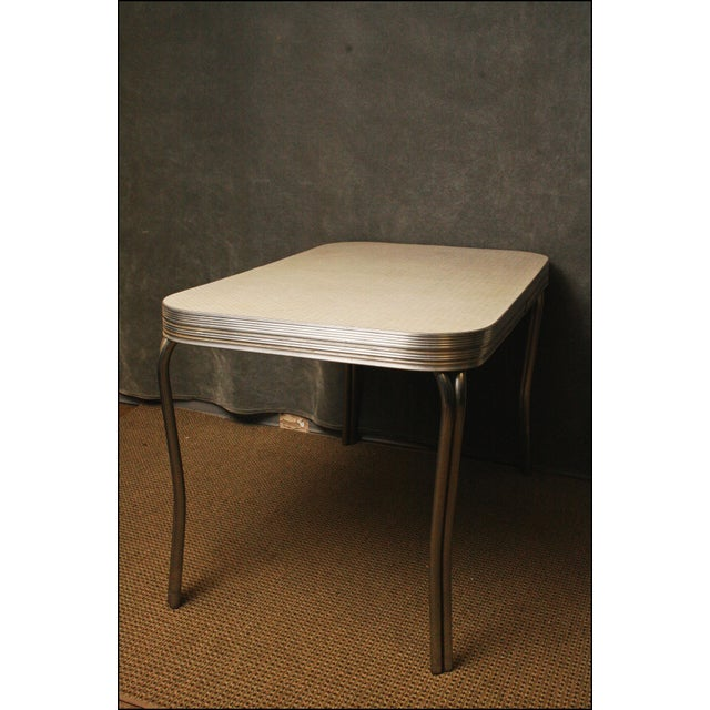 Mid-Century Modern White Formica Dinette Table - Image 9 of 12