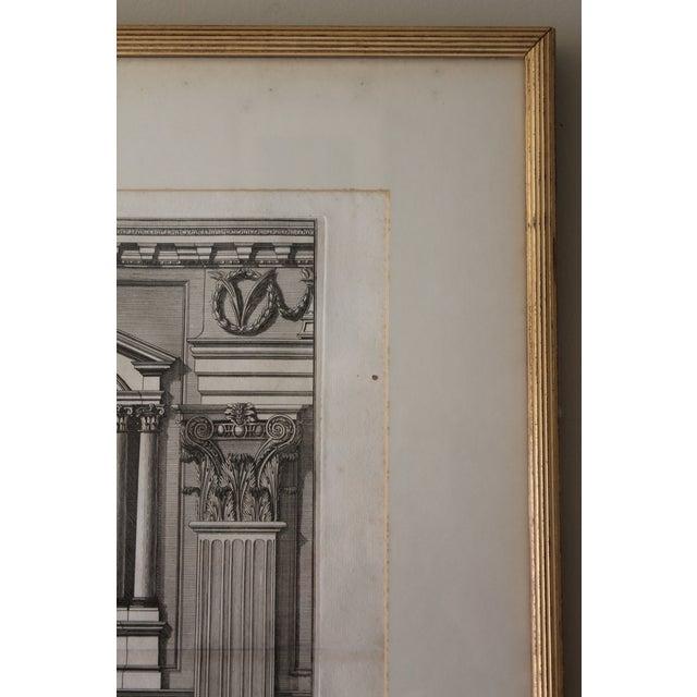 White Early 19th Century Antique Prospetto Del Finestreno Architectural Print For Sale - Image 8 of 12