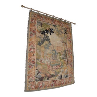 Hand Made French Wall Tapestry Early 20th Century Magnificent!