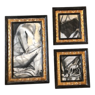 Gallery Wall Collection 3 Original Vintage Abstract Pastels For Sale