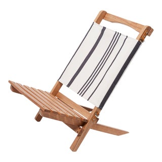 2 Piece Outdoor Chair - Vintage Black Stripe For Sale