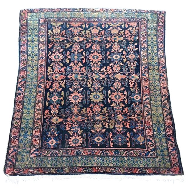 "Antique Persian Hamadan Rug - 5'4"" X 6' - Image 1 of 10"