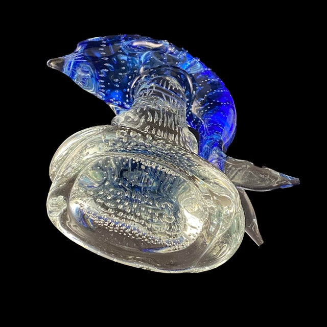 Art Glass Sculpture of Dolphin Riding a Wave For Sale In Boston - Image 6 of 7