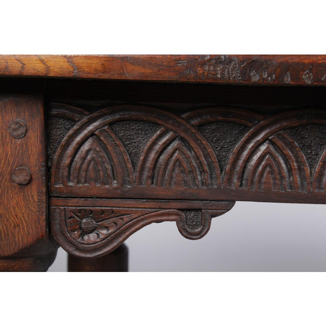 19th Century Antique French Oak Church Refectory Table For Sale - Image 4 of 8