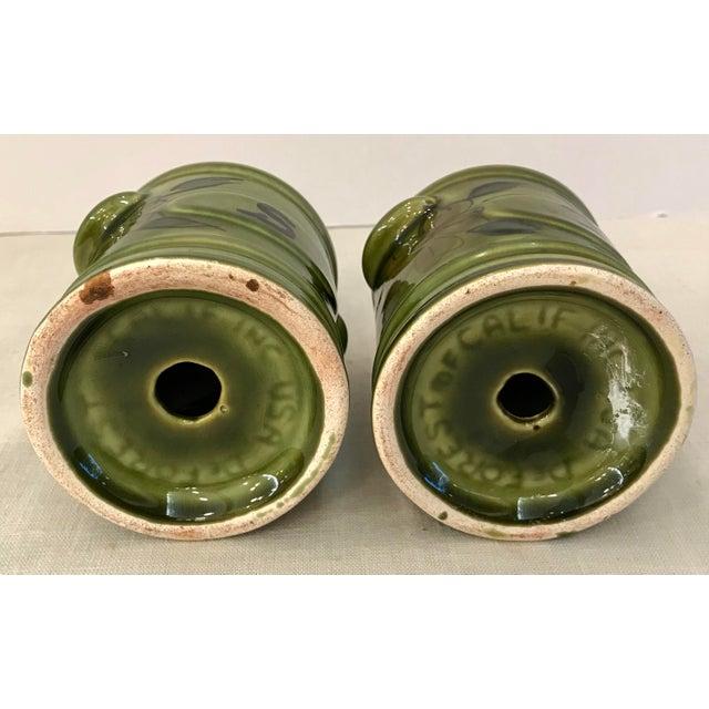 Ceramic Vintage Green California Pottery Salt & Pepper Set For Sale - Image 7 of 8