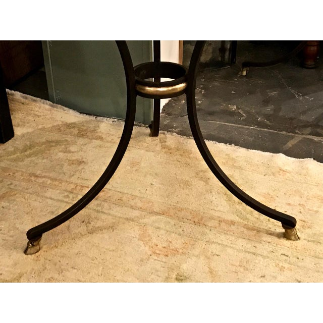 Pair Wrought Iron & Marble Neoclassical Side Tables C.1970-1980 For Sale In Los Angeles - Image 6 of 8