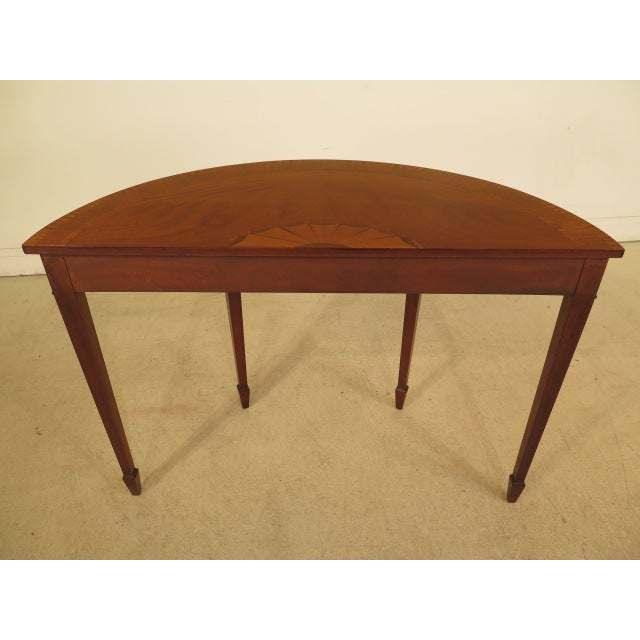 Federal Style Mahogany Demilune Tables - A Pair - Image 10 of 11