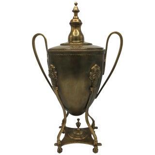 1980s Italian Brass Lidded Urn For Sale
