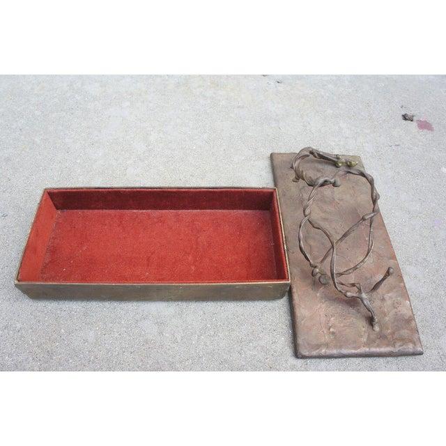 Brutalist Bronze Box For Sale - Image 4 of 5