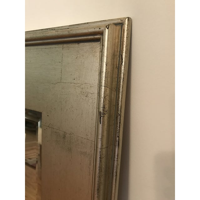 Traditional Pottery Barn Metallic Finish Wood Frame Mirror For Sale - Image 3 of 6