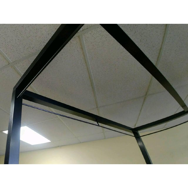 Mid-Century Modern Henredon Furniture Mark D. Sikes Pacific Palisades Queen Uph Canopy Bedframe For Sale - Image 9 of 13