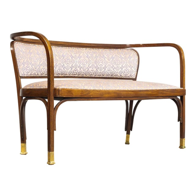 Antique Vienna Secessionist Gustav Siegel 715 for Kohn Loveseat Bench For Sale