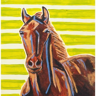 'Harriet the Horse' Acrylic Painting by Sally Bunting