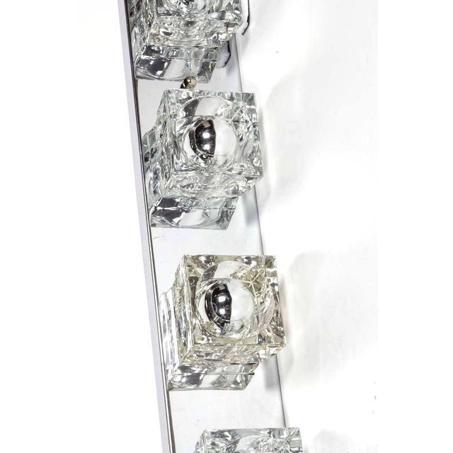 Metal Mid-Century Modern Cubist Wall Light in Chrome by Gaetano Sciolari, Italy For Sale - Image 7 of 10