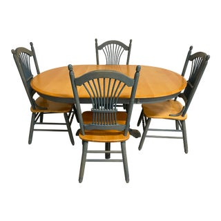 Thomasville Furniture Table + Four Chairs Set - 5 Pieces For Sale