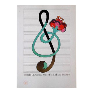 Vintage Poster Lithograph - Milton Glaser For Sale